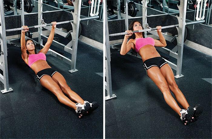 Inverted Row cho bài vai cải thiện cơ thể