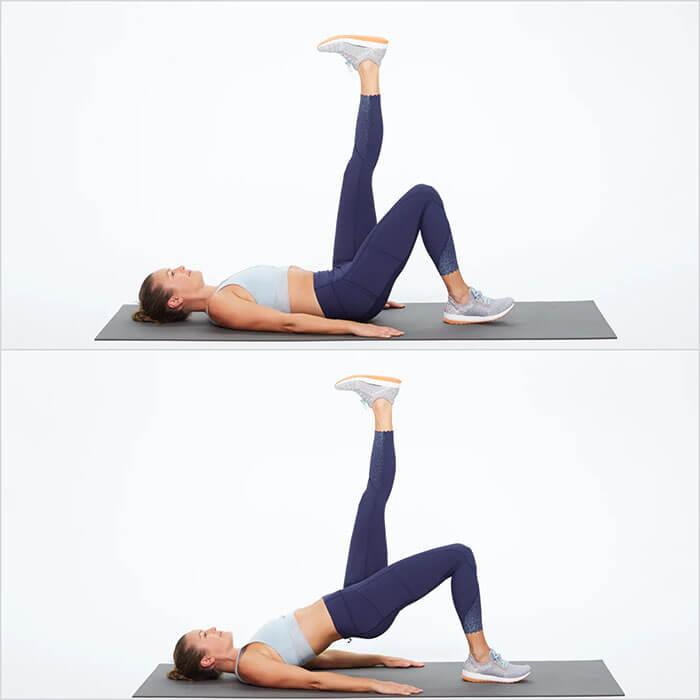 Động tác nâng chân giúp phụ nữ thon chân